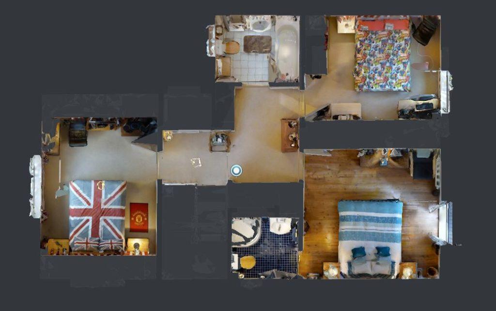 Virtual Reality Created Floor Plan